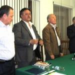 se cierra la asamblea extraordinaria a voz del dirigente de la CTM en el Estado, licenciado Emilio de Jesús Ramírez Guerrero