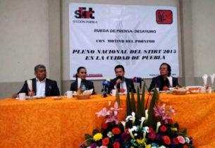 Puebla será sede del Pleno Nacional Ordinario del STIRT