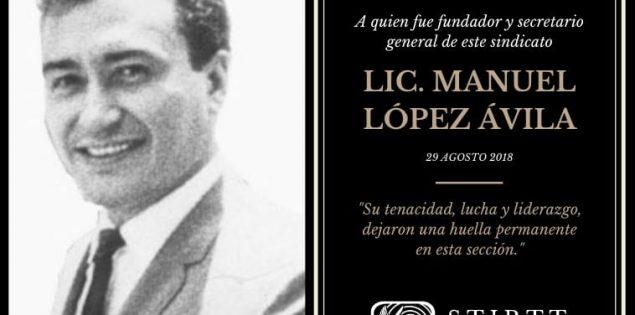 SENSIBLE FALLECIMIENTO DEL LICENCIADO MANUEL LOPEZ AVILA.